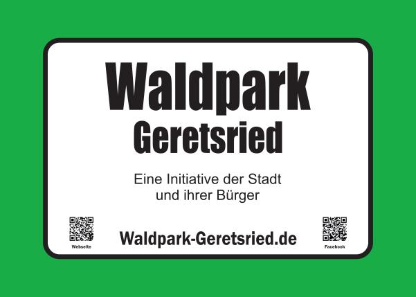 Hinweisschilder am Waldpark Geretsried
